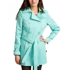 TAHARI NEW TRENCH RAINCOAT JACKET GREEN WOMEN COAT RAIN CATHY GIRLS Turquoise M