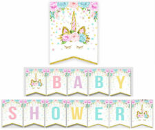 Unicorn Baby Shower Party Bunting Banner Party Props Birthday Supply Decoration