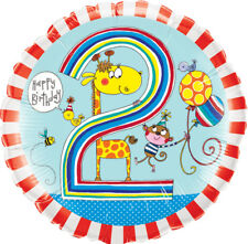 "2nd BIRTHDAY PARTY SUPPLIES 18"" BOY RACHEL ELLEN DESIGN 2 TODAY! FOIL BALLOON"