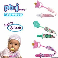 PBnJ baby Pacifier Clip Holder Strap Leash Tether for Boys and Girls with Safe