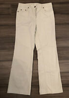 JONES NEW YORK Sport Petite Women's Beige Stretch Cotton Chino Pants-Size 8P