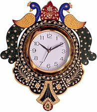 Peacock Clock Vintage Style Wall Clock Antique Wooden Wall Clocks