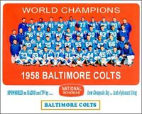 1958 Baltimore Colts Photo 8X10 - Unitas Donovan Berry - Buy Any 2 Get 1 FREE