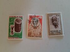 Africa Stamps Chad, Republique De Haute-volta, Republique De Cote D'Ivoire.