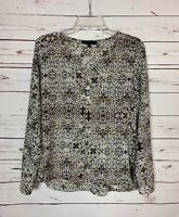 Sanctuary Anthropologie Women's Size XS Extra Small White Cute Spring Top Blouse