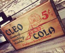 Extremely Rare Vintage 1937 Cleo Cola Wood Soda Pop Crate Columbus Ohio