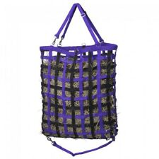 "Tough 1  Web Hay Feeder with Drawstring - Purple & Black - 24""x 26"" - NEW -"