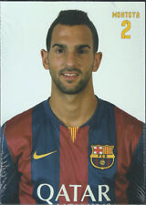 Postal postcard  2 MONTOYA jug.  FC BARCELONA 14/15