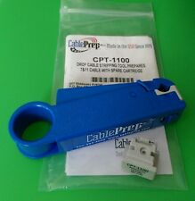 (NEW) Cable Prep CPT-1100 Drop Cable Stripper RG7/11 WITH Spare Cartridge
