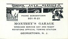 Business Card, Montrey's Garage, Georgetown NJ
