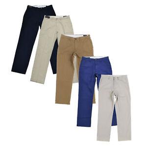 Polo Ralph Lauren Hommes Classique Chino Pantalon Plat Avant Affaires Bas Nwt