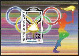 STAMPS-BRITISH VIRGIN ISLANDS. 1992. Olympics Miniature Sheet. SG MS831. MNH.