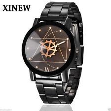 Luxury Women Mens Stainless Steel Watches Retro Quartz Analog Wrist Watch