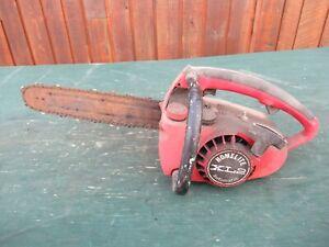 "Vintage HOMELITE XL2 Chainsaw Chain Saw 11"" Bar  PARTS"