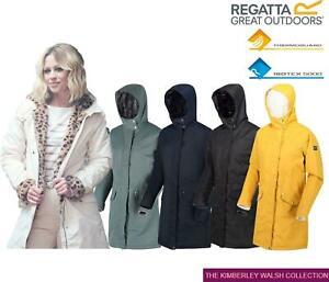 Regatta Womens Rimona Insulated Hooded Waterproof Parka Jacket Zip Coat