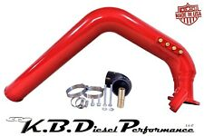 "Red 3.0"" 6.6l Duramax Cold Side Intake Tube LLY 2004.5 2005 Chevy GMC"