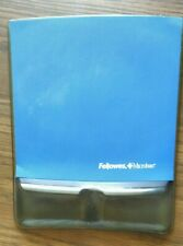 FELLOWES MOUSE PAD/WRIST AND PALM KEYBOARD SUPPORT W/MICROBAN - BLUE
