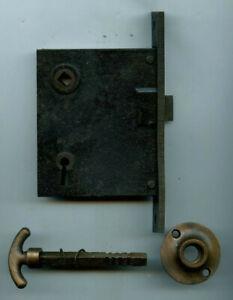 Antique Door Lock Assembly, The J. B. Schroder Co., Cincinnati, Ohio