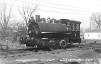 1940s WORTHINGTON OHIO Railroad Museum RPPC real photo postcard 3982