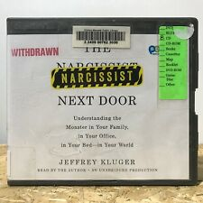 The Narcissist Next Door by Jeffrey Kluger Ex Library 8 CD Unabridged Audiobook