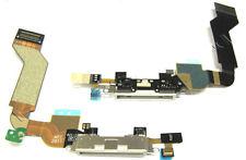 Iphone 4s Datos Sync Carga bloque Puerto Dock Asamblea Cable Flex Con Micrófono Blanco