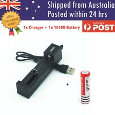 USB 18650 Battery Charger for 3.7V Rechargeable Battery + 18650 Battery
