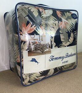 RARE Tommy Bahama San Jacinto Indigo Blue 4 piece King Comforter Set NIP