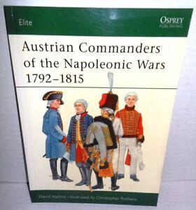BOOK Osprey Elite # 101 Austrian Commanders of the Napoleonic Wars 1792-1815 op