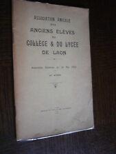 ASSOCIATION DES ANCIENS ELEVES DU COLLEGE ET DU LYCEE DE LAON - 1935 - Aisne