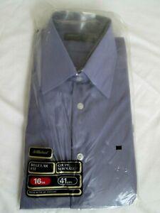 """BNIP Vintage Retro Mod 60's St Michael deep Lilac Nylon  Shirt 16"""""""