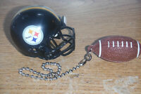 PITTSBURGH STEELERS HELMET AND FOOTBALL CEILING FAN PULL CHAIN SET