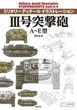 Sturmgeschutz III Ausf.A-E Military Detail Illustration Japan