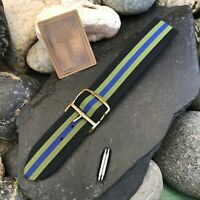 rare 20mm Perlon Regimental Military Dive Strap 1960s Vintage Watch Band nos