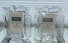 Waterford Crystal Marquis Abc Baby Collection Picture Frame-New 2 3/8 x 3 1/4