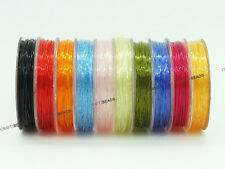 0.6mm Elastic Crystal Round Stretch Beading Cord Bracelet - Assorted 10 Spools
