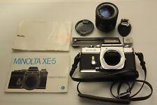 Minolta XE-5 Kamera mit MC SUN ZOOM 35-70mm 1:3.5-4.5 Macro Ø55 und mehr
