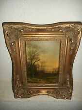 19th century oil painting +- 1880, { Lumberjacks chopping wood, is signed }.
