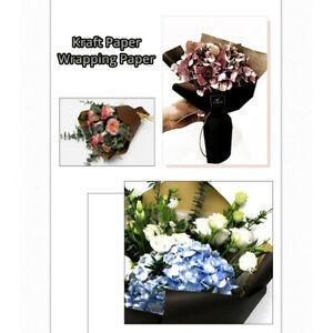 """20 Sheets Kraft Wrapping Paper for Gifts/Flowers in Many Colors (22.75x22.75"""")"""