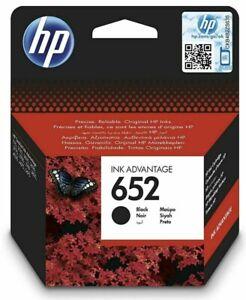 Genuine Original HP 652 Black Ink Cartridge F6V25AE