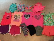 Girls Clothing Huge Lot Justice shirts tank shorts swim 10 12 EUC