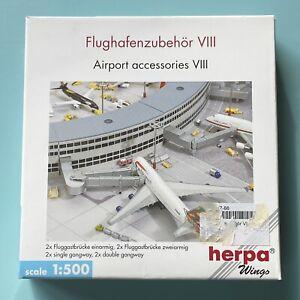 4 Gangways Fluggastbrücken Airport Accessories VIII 1:500 Herpa Flughafenzubehör