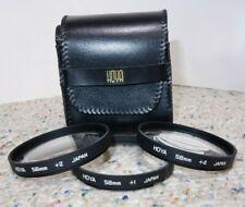 Hoya 58mm +1, +2, +4 Close Up Filter Set w/ Wallet/Case