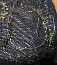 Lovely dark tone metal multi-strand necklace with gun metal coloured beads
