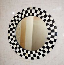 Mirror Wall Mount Bedroom Checker Horn/Bone Frame Accessories Decorative Decor