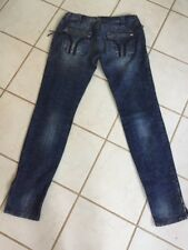 Miss Sixty RARE! Dark Wash Zippered Ankle & Zippered Rear Pockets Jeans Sz 27