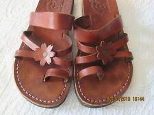 Camel Jerusalem Brown Leather Sandals Handmade size 9.5