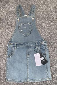 Guess Girls Denim Diamond/ Pearl Pinafore Dress Age 5 Years NEW RRP £39