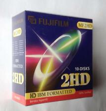 "FujiFilm (Vintage Sealed box of 10 discs) 3.5"" Floppy Discs - MF2HD - IBM Format"