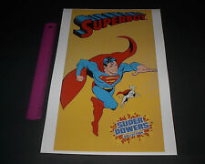 DC COMICS SUPER POWERS SUPERBOY WITH KRYPTO POSTER PIN UP