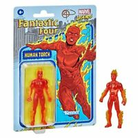 "Hasbro Kenner Marvel Legends Retro Human Torch 3.75"" Figure Fantastic 4 New 2021"